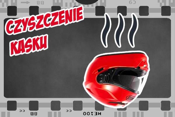 czyszczenie kasku motocyklowego